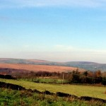 View of Pennine hills