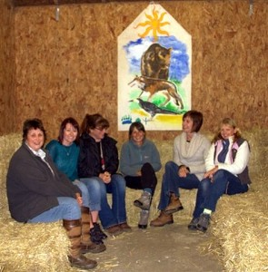 Participants on our horse wisdom workshop